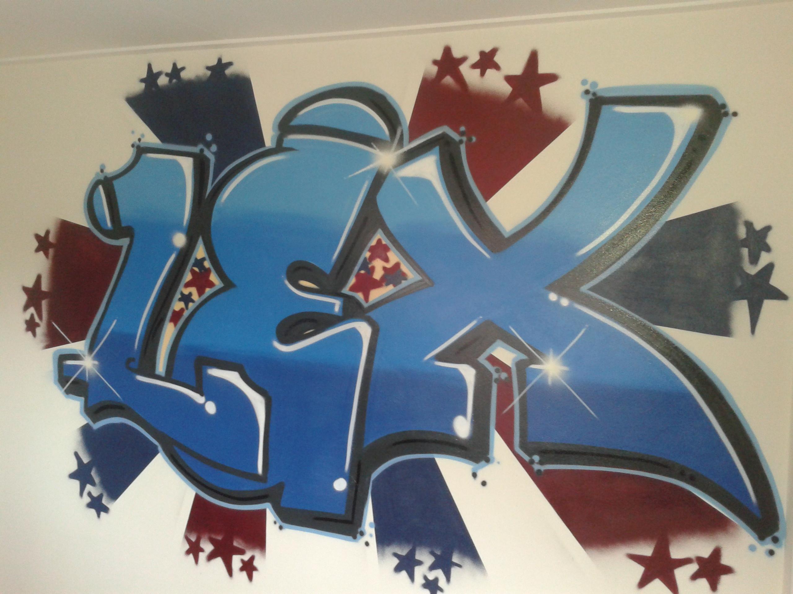 Graffiti Voor Slaapkamer : Graffiti op slaapkamer van Lex - Graffiti ...