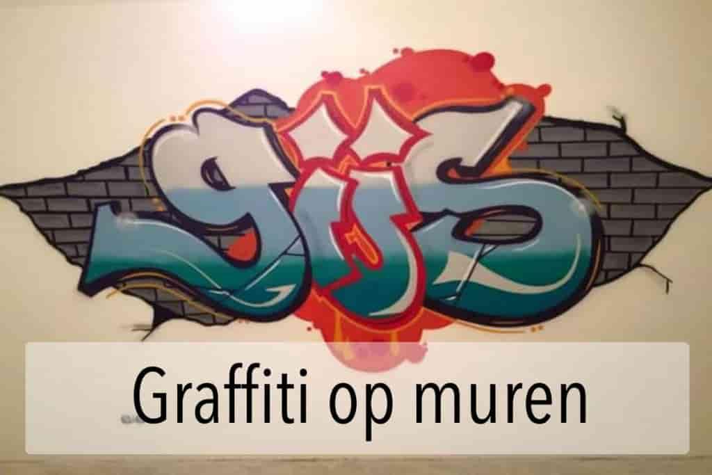 Graffiti muurschildering
